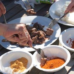 Chiemi さんの Ethiopian food Doro wat with Ethiopian coffee ceremony 〜エチオピア料理 ドロワットとエチオピアンコーヒーセレモニー〜