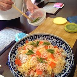 Miyuki さんの ちらし寿司でおもてなし