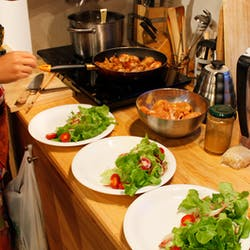 Mizuki さんの 中東料理教室(1)フムス・ファラフェル♪