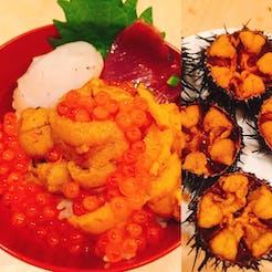 Mihoko さんの 「魚のお福分け」5/24(金)夜 岩手県洋野町のウニ牧場より殻つきウニで海鮮丼!