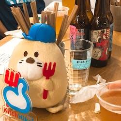 """スタンドうみねこ はなれ さんの 【心斎橋】大人気すぎてなかなか出会えない """"DERAILLEUR BREW WORKS""""のビールを飲もう!「ちょい飲みスタンド」@スタンドうみねこ はなれ"""